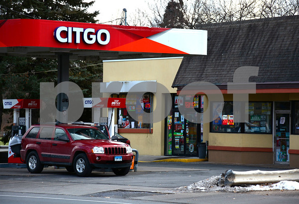 12/20/2017 Mike Orazzi | Staff The Citgo gas station in Forestville was robbed at gun point Tuesday evening.