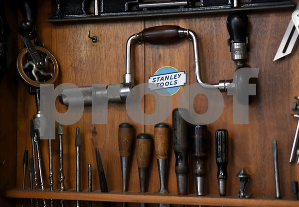12/2/2017 Mike Orazzi | Staff Stanley tools on display at the New Britain Industrial Museum Saturday morning during the grand opening.