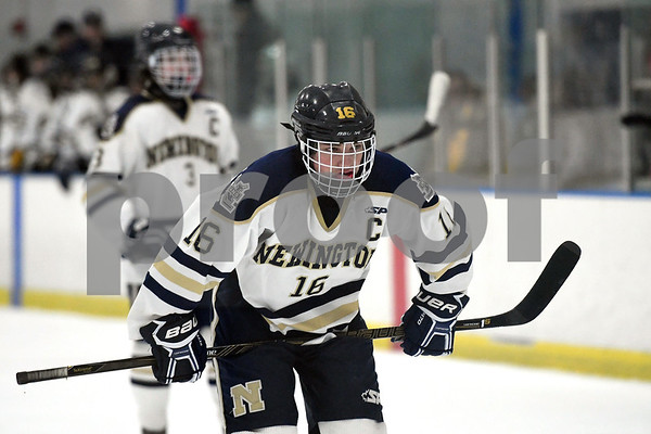 12/30/2017 Mike Orazzi | Staff Newington's Matt Lovoie (16) at the Newington Ice Arena Saturday.