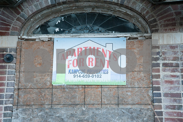 12/06/17 Wesley Bunnell | Staff A sign on the front of 24 Tremont St in the North Oak Section of New Britain. Residents of the neighborhood have recently been speaking up regarding blight and alleged neglect from the city regarding their concerns.