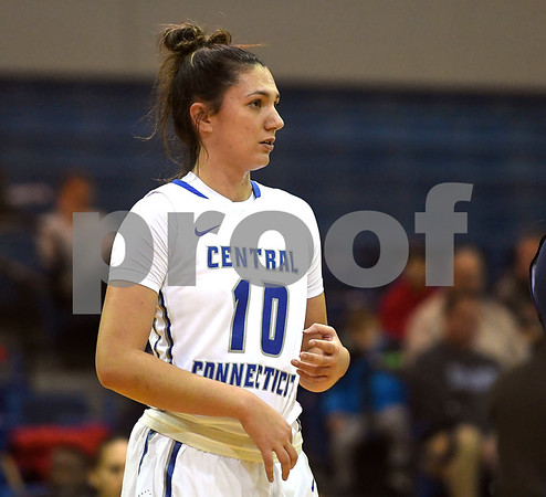12/9/2017 Mike Orazzi | Staff CCSU's Andi Lydon (10) during Saturday's women's basketball game with Yale University in New Britain.