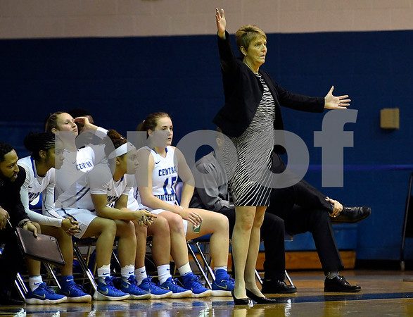12/9/2017 Mike Orazzi | Staff CCSU Head Women's Basketball Coach Beryl Piper during women's hoops in New Britain.