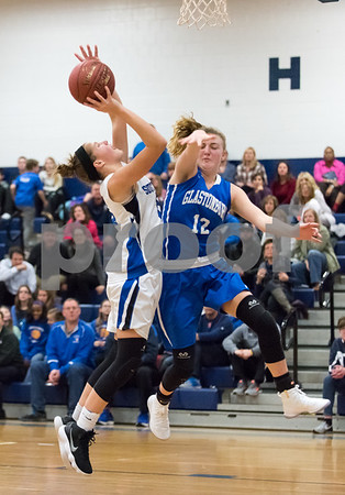 02/26/18 Wesley Bunnell | Staff Southington girls basketball fell 61-54 to visiting Glastonbury in the first round of the LL state tournament. Allison Carr (15).