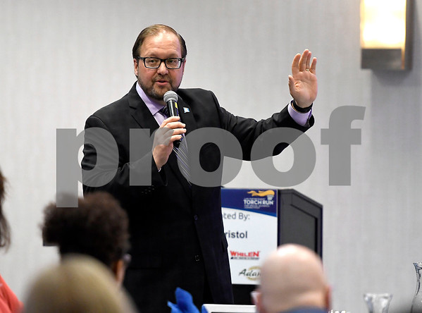 2/21/2018 Mike Orazzi | Staff Paul Lavoie, chairman of the Regional Legislative during the Central Connecticut Chambers of Commerce 2018 Legislative Breakfast held at the DoubleTree by Hilton Hotel Bristol in Bristol Wednesday morning.