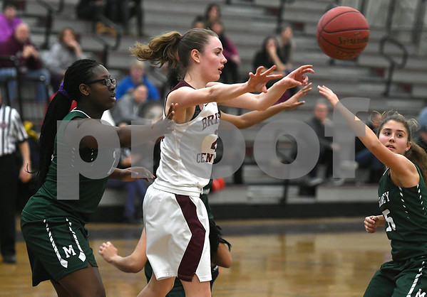 1/16/2018 Mike Orazzi | Staff Bristol Central Girls Basketball's Ashley Watson (23) during Tuesday night's game with Maloney in Bristol.