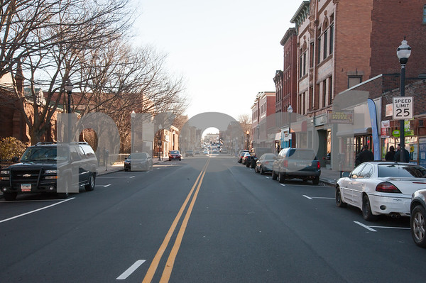 01/25/18 Wesley Bunnell | Staff The Arch St. Area NRZ and Alderwoman Eva Magnuszewski are holding a walk through the Arch and Glen St neighborhoods to discuss issues and potential solutions. A look up Arch St from downtown.