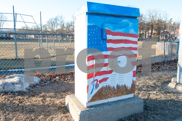 01/26/18 Wesley Bunnell | Staff A utility box painted near Memorial Blvd painted in a patriotic theme.