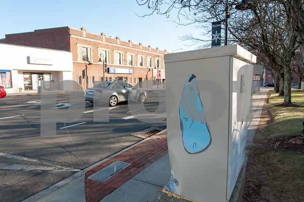 01/26/18 Wesley Bunnell   Staff A painted utility box on Main St in Bristol.