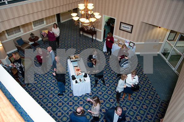 01/25/18 Wesley Bunnell   Staff Mulberry Gardens held a reception on Jan 25 to featuring its newly renovated reception area as well as a fireplace and seating for residents to enjoy.