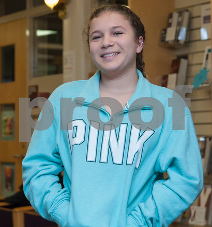 01/29/18 Wesley Bunnell   Staff Aliana Fichera, a 13 year old girl with a life threatening illness CVID, thanked the Bristol Central High School InterAct Club for their donation to the Make A Wish Foundation on Monday afternoon. Aliana recently visited Disney World and other attractions in Central Florida as part of her Make A Wish trip. Aliana smiles while talking in front of the group.