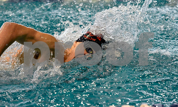 1/30/2018 Mike Orazzi | Staff Bristol's Ben Stafford during Tuesday's swim meet with Berlin in Bristol.