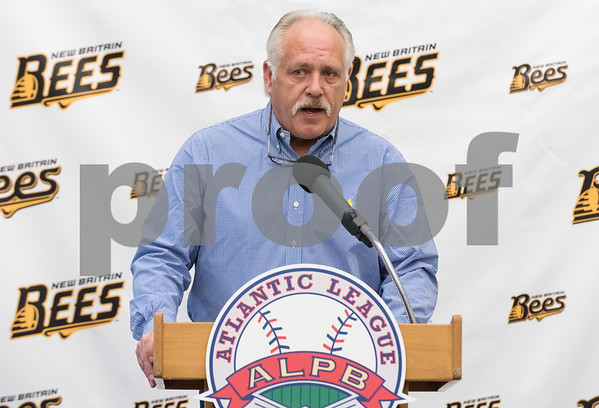 01/11/18 Wesley Bunnell | Staff Former major leaguer Wally Backman was officially introduced as the 2nd New Britain Bees Manager on Thursday afternoon at New Britain City Hall.