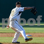 070517  Wesley Bunnell | Staff  New Britain Bees vs Somerset Patriots on Wednesday evening. Starting pitcher Greg Nappo (12).