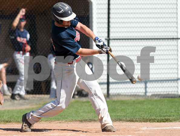 071917 Wesley Bunnell | Staff Southington American Legion Post 72 vs Avon Post 201 on Wednesday afternoon in Avon. The first game was forfeited by Avon after it was ruled they used an ineligible player forcing a second final deciding game. Bailey Robarge (14).