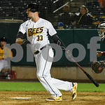 072417  Wesley Bunnell | Staff  The New Britain Bees lost 2-1 to the Lancaster Barnstormers on Monday evening. Jon Griffin (33).