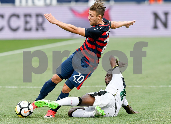 070117 Wesley Bunnell | Staff The United States mens' national team defeated Ghana in an international friendly 2-1 on Saturday afternoon at Rentschler Field. USA M Paul Arriola (20)