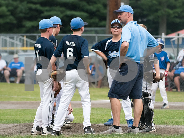 071217 Wesley Bunnell | Staff The Little League age 10-11 District 5 Championship game was played at Trumbull Park in Plainville featuring Southington North vs Wallingford.