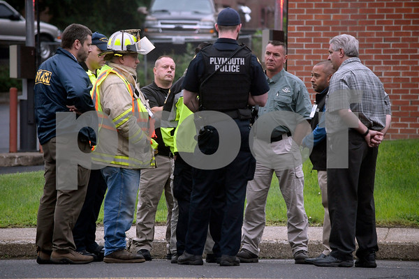 7/14/2017 Mike Orazzi   Staff The where a white powder was found in a U.S Postal Service mailbox on Agney Avenue behind Thomaston Savings Bank Friday afternoon. The street was closed for several hours as state DEEP officials, Plymouth Police and Fire along with a regional postal inspector responding to the scene.