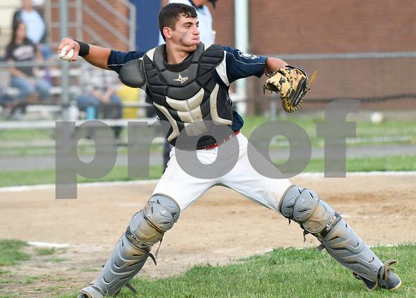 070617 Wesley Bunnell | Staff Southington vs Bristol in American Legion Baseball on Thursday evening at Southington High School. Josh Panarella (7).
