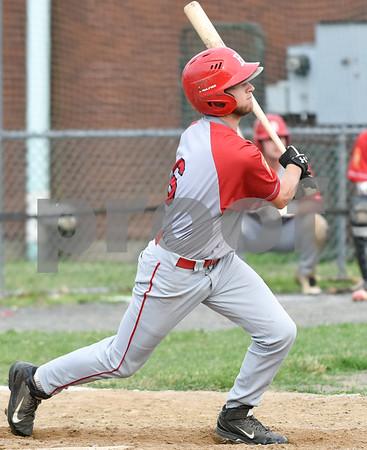 070617 Wesley Bunnell   Staff Southington vs Bristol in American Legion Baseball on Thursday evening at Southington High School. Jaeden Rasmus (6).