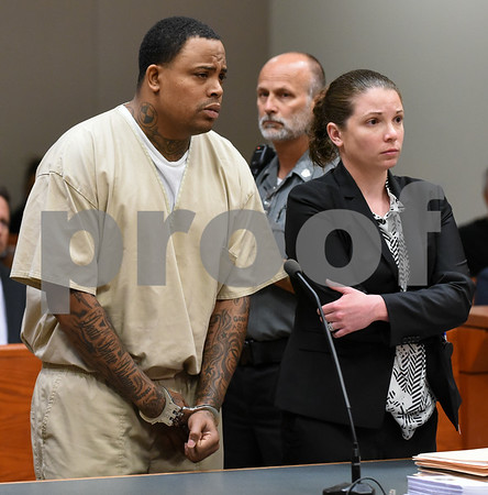 070617 Wesley Bunnell   Staff Rahheem K. McDonald, 38, or Waterbury was arraigned in New Britain Superior Court on Thursday in connection with the murder of a motel clerk Pratikkumar Jagani in Berlin on Sunday. McDonald is shown with Attorney Stephanie O'Neil.