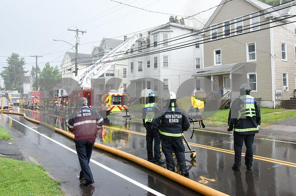 062717 Wesley Bunnell   Staff A fire broke out Tuesday afternoon at 404 East St in New Britain on the top floor.