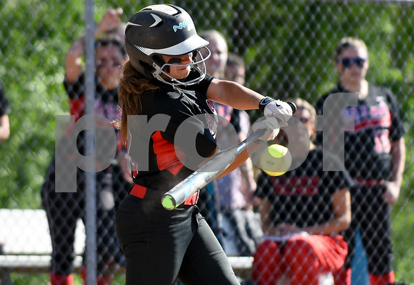 060217 Wesley Bunnell | Staff Southington High softball defeated E.O. Smith in a quarterfinal game on Friday afternoon. E.O. Smith's Allyson Petrella (3).