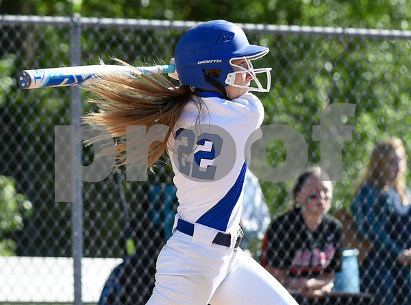 060217 Wesley Bunnell | Staff Southington High softball defeated E.O. Smith in a quarterfinal game on Friday afternoon. Chrissy Marotto (22)