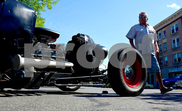 6/18/2016 Mike Orazzi | Staff Mike Santorso during the 7th Annual Bill Englert Memorial Auto Show in Bristol on North Main Street sponsored by TEAM Bristol.