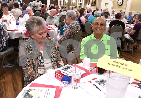 6/14/2017 Mike Orazzi | Staff Shelia and Jim Bousquet during the Bristol Senior Center's Volunteer Dinner held at Nuchie's Wednesday afternoon.