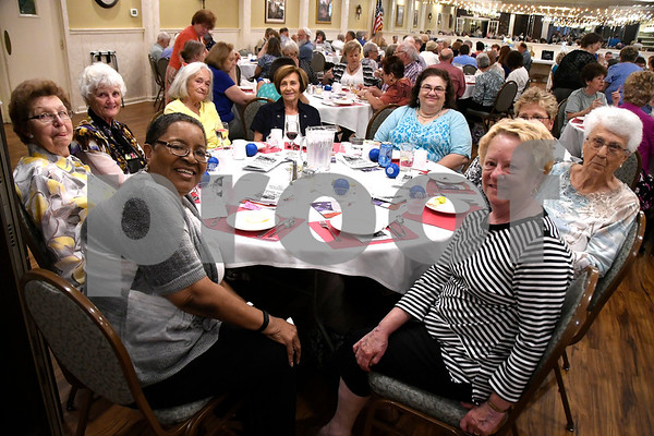 6/14/2017 Mike Orazzi | Staff The Bristol Senior Center's Volunteer Dinner held at Nuchie's Wednesday afternoon.