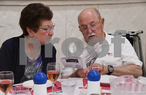 6/14/2017 Mike Orazzi | Staff Dolores and Charlie Ricker during the Bristol Senior Center's Volunteer Dinner held at Nuchie's Wednesday afternoon.