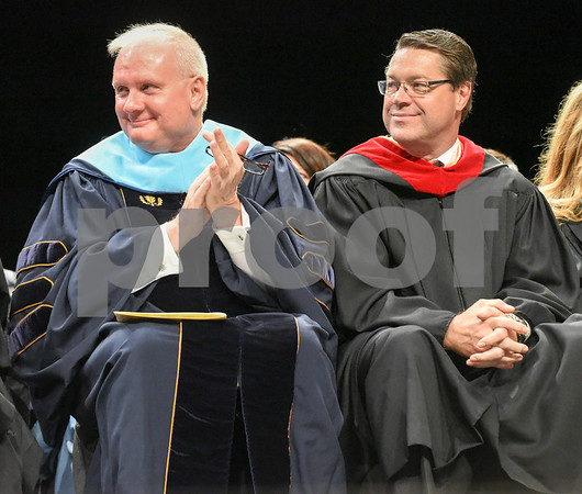 062017 Wesley Bunnell | Staff Newington High School held their 2017 commencement at the Oakdale Theatre on Tuesday evening. Superintendent Dr. William Collins & retiring principal of Newingthon High School Jim Wenker,