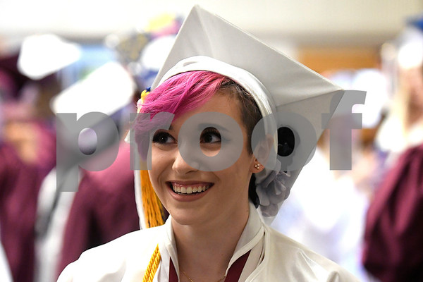 6/21/2017 Mike Orazzi | Staff Bristol Central High School Valedictorian Molly Watstein during Wednesday night's ceremony in Bristol.