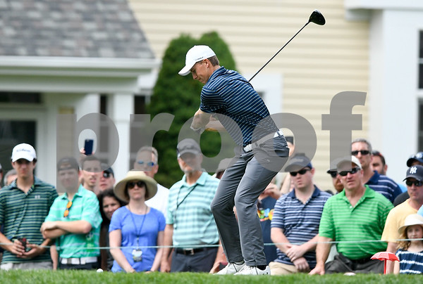 062517 Wesley Bunnell | Staff The final round at the Travelers Championship on Sunday afternoon. Jordan Spieth.