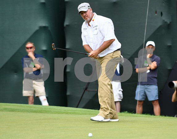 062517 Wesley Bunnell | Staff The final round at the Travelers Championship on Sunday afternoon. Book Weekley.