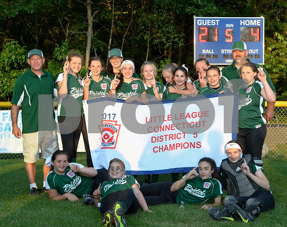 062617 Wesley Bunnell | Staff Bristol defeated Berlin on Monday evening in Plainville to claim the Little Leage District 5 Softball Championship.