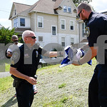 062817  Wesley Bunnell | Staff  A hate crime was reported by a resident of Arch St. on Wednesday afternoon when two shirts were left outside of a home referencing 9/11 along with anti Islami ...