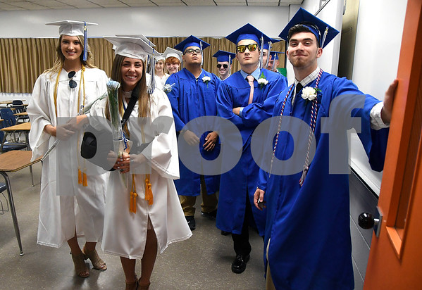 6/20/2017 Mike Orazzi | Staff Southington High School graduates at SHS for Tuesday night's graduation ceremony.