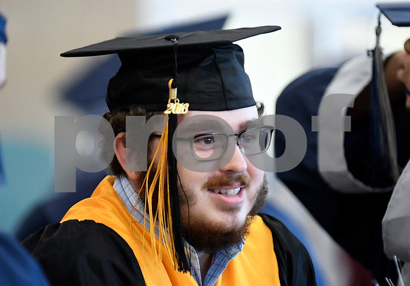 6/20/2017 Mike Orazzi | Staff Bristol Technical Education Center graduate Christopher Nunes during Tuesday's ceremony held at the Bristol Boys & Girls Club in Bristol.