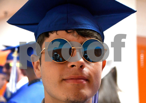 6/20/2017 Mike Orazzi | Staff Southington High School Thomas Goutzos at SHS for Tuesday night's graduation ceremony.