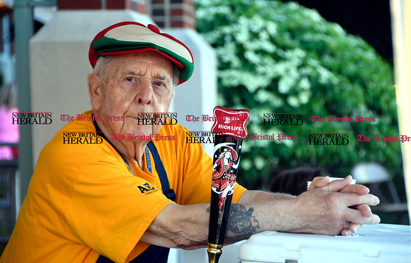 6/1/2017 Mike Orazzi | Staff Joe Caminiti at the beer tent during the St. Anthonys Italian Festival Friday evening.