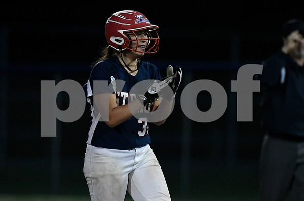 6/7/2017 Mike Orazzi | Staff St. Paul's Lindsey O'Bright (32) during a win over Coventry in the Class S Semifinal at West Haven High School Wednesday night.