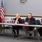 030816   Wesley Bunnell | Staff  New Britain Republicans met to elect new officers. The position of Chairman was postponed to a future date.  From L, Tony King, Justin Dorsey  Peter Gostin.