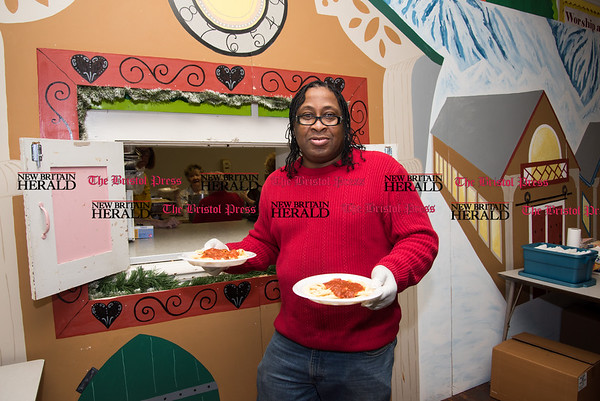 030817 Wesley Bunnell | Staff First Lutheran Church in New Britain is running short of the money needed to hold their pasta supper as they have every Wednesday night to feed the homeless.