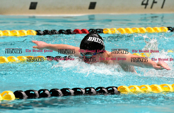 3/11/2017 Mike Orazzi | Staff Bristol Co-Op Swim team member Keagan Mullan during the CIAC Boys Class LL Championship meet held at East Hartford High School Saturday.