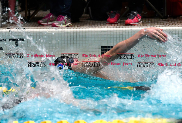 3/11/2017 Mike Orazzi | Staff Southington High School's Tyler Heidgerd during the CIAC Boys Class LL Championship meet held at East Hartford High School Saturday.