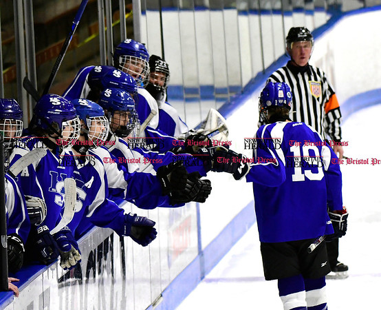 3/18/2017 Mike Orazzi | Staff Hall-Southington's Jacob Mohr (19) during the CIAC 2017 State Boys Ice Hockey Tournament Division III Finals at Ingalls Rink in New Haven Saturday.