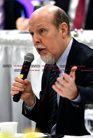 1/24/2017 Mike Orazzi | Staff State Senator Joe Markley during the Central Connecticut Chambers of Commerce's annual Legislative Breakfast held at the DoubleTree by Hilton Tuesday morning in Bristol.