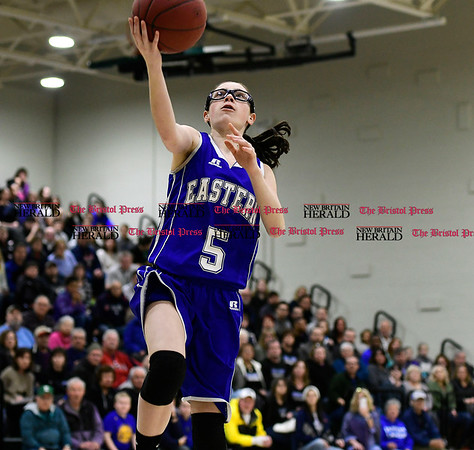3/3/2017 Mike Orazzi   Staff Bristol Eastern's Miranda Janick (5) during the Class LL Second Round Girls Basketball game with Enfield.